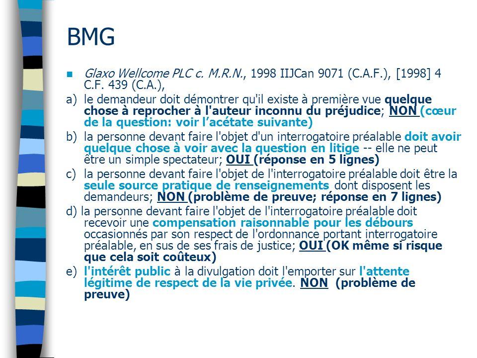BMG Glaxo Wellcome PLC c. M.R.N., 1998 IIJCan 9071 (C.A.F.), [1998] 4 C.F. 439 (C.A.),